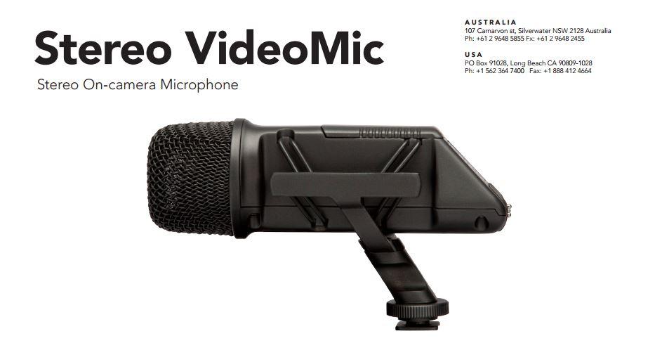 rode stereo videomic_datasheet