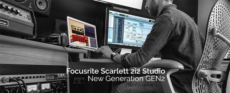 ชุดอุปกรณ์บันทึกเสียง Focusrite Scarlett 2i2 Studio GEN2 Pack